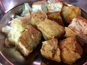 臭豆腐(発酵した豆腐)